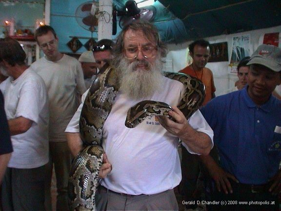 Gerry with huge snake