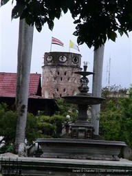 Heredia colonial tower, El Fortin, in its center