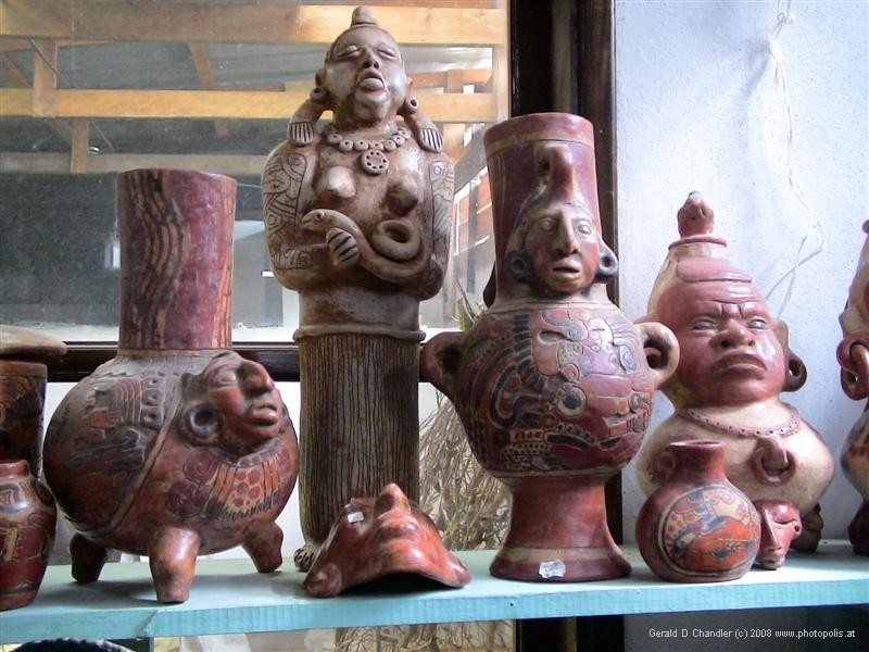 Reproductions of Mayan items for sale