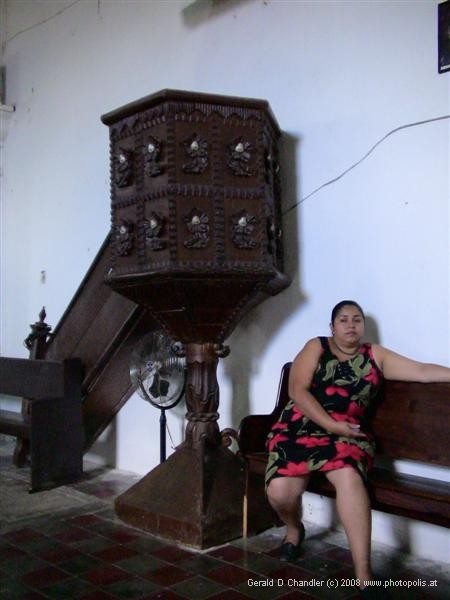 Woman in Church, Comayagua