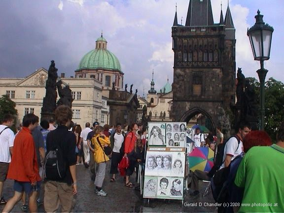 South-east end of Charles Bridge, looking toward Old Town