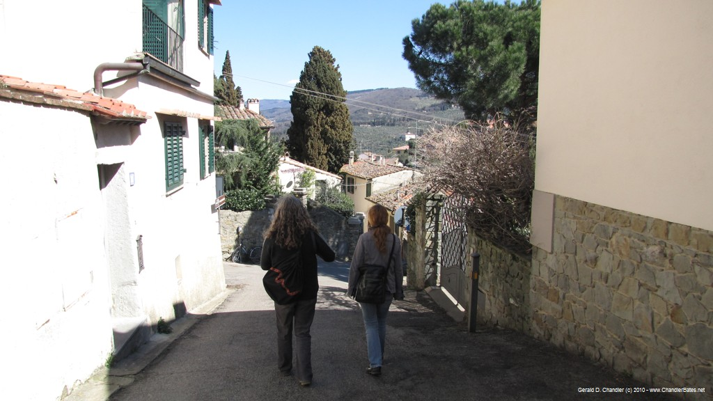 Yvonne and Sandro in Fiesole hills
