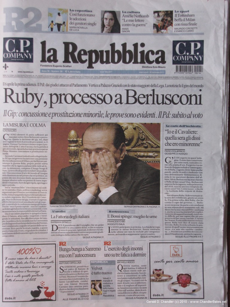 Berlusconi troubled by Ruby