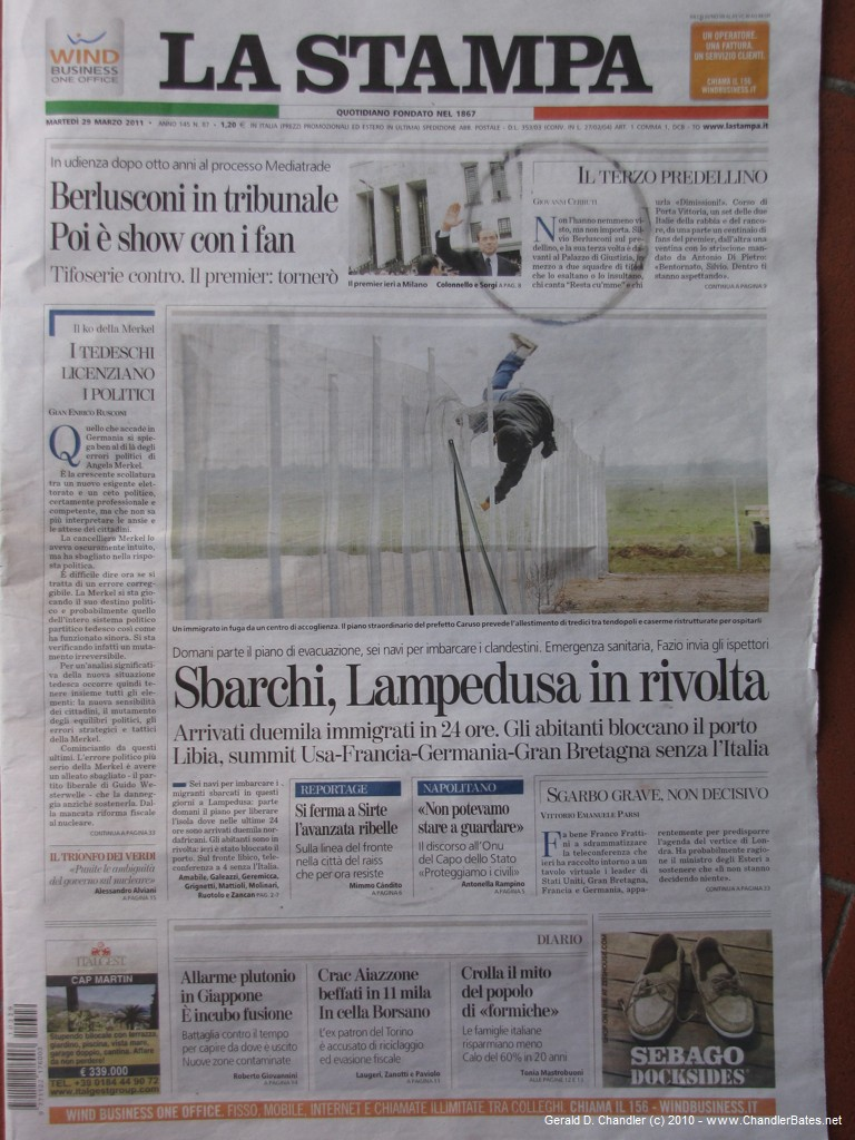 Trouble in Lampedusa