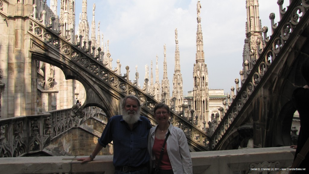 On the roof of the Milan Cathedral