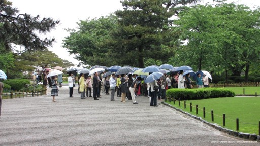 Kenrokuen Tourist Umbrellas