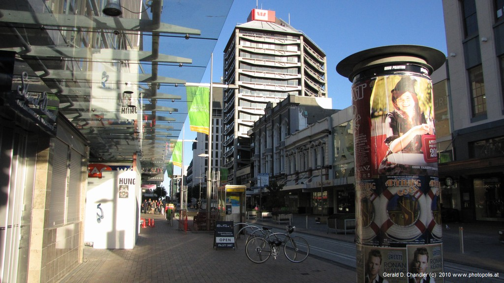 CBD Pedestrian Street with new tramlines