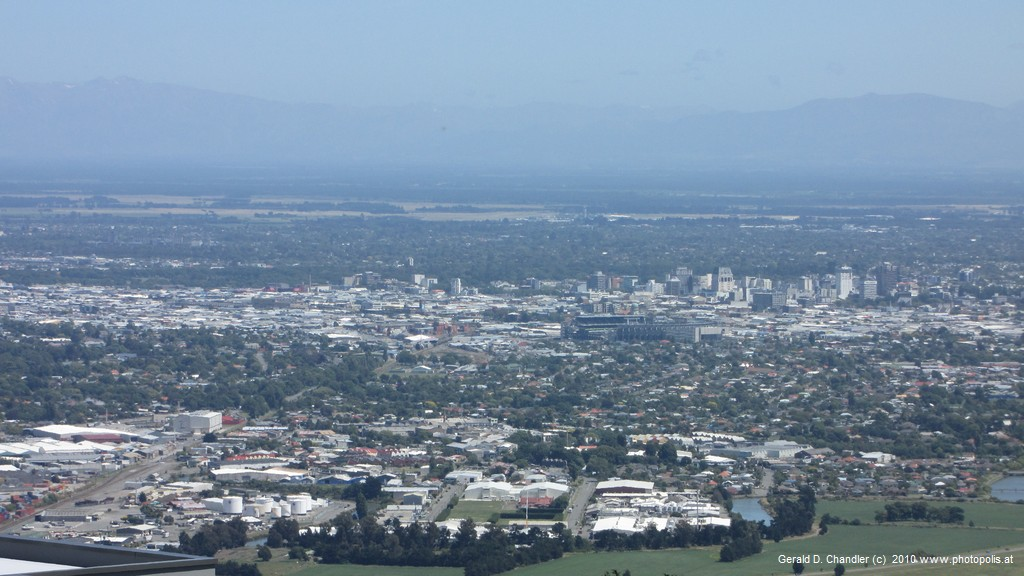 View of Christchurch from Summit Road