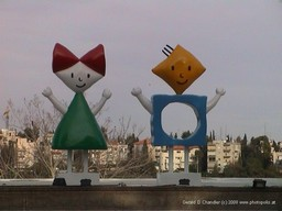 Modern Art-Girl & Boy Statues