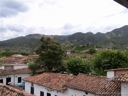 Tiled red roofs of Giron