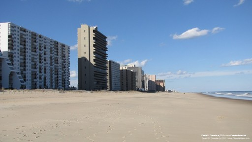 Empty for winter: condos and beach