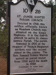 St James Santee Church historic marker