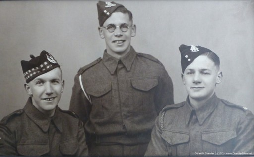 Jan's father and two uncles, about 1940