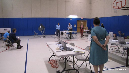 Setting up the Gym for Voting