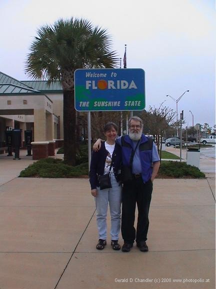Jan and Gerry at a Florida Welcome Center