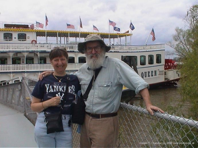 Jan, Gerry, and Mississippi riverboat